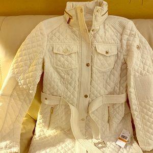 Michael Kors white Winter coat. Size Small.